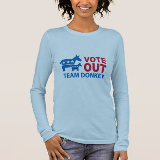 Vote Out Team Donkey Long Sleeve T-Shirt