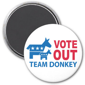 Vote Out Team Donkey Magnet