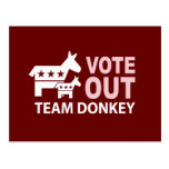 Vote Out Team Donkey Post Card