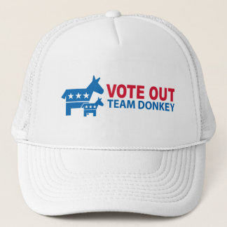 Vote Out Team Donkey Trucker Hat