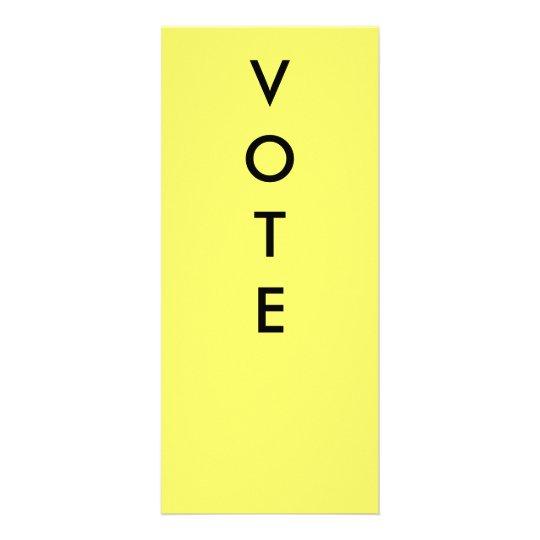 VOTE PADDLES RACK CARD