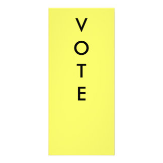 VOTE PADDLES PERSONALIZED RACK CARD
