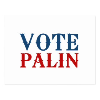 VOTE PALIN 2012 POST CARDS