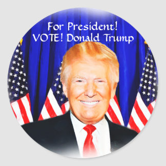 Vote_ para Presidente-Donald Trump_ Pegatina Redonda