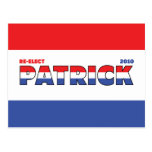 Vote Patrick 2010 Elections Red White and Blue Postcard