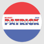 Vote Patrick 2010 Elections Red White and Blue Sticker
