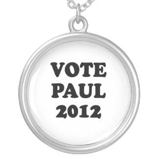 VOTE PAUL IN 2012 ROUND PENDANT NECKLACE