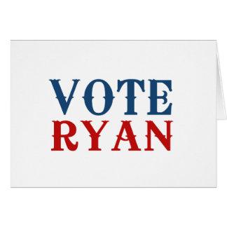 VOTE PAUL RYAN 2012 CARD