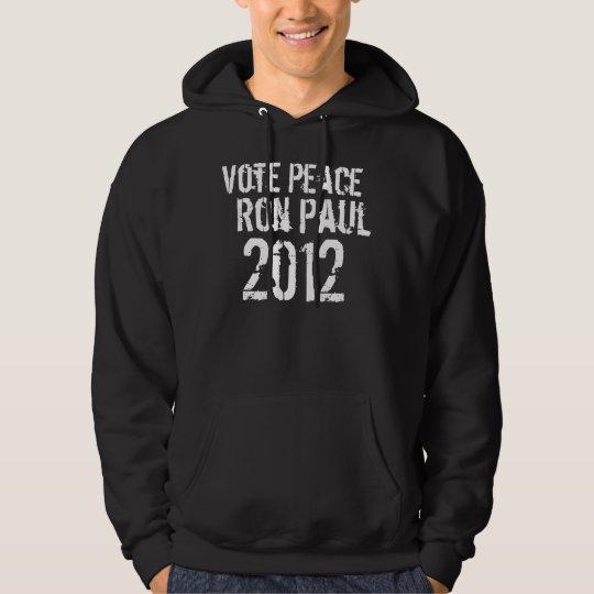 vote peace ron paul 2012 hoodie
