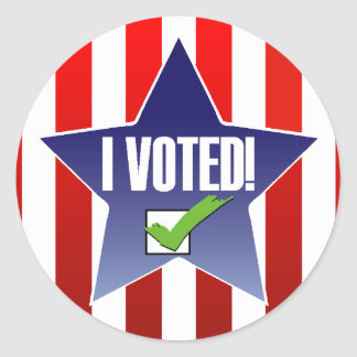 ¡Voté! Pegatina Redonda