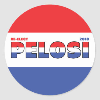 Vote Pelosi 2010 Elections Red White and Blue Stickers