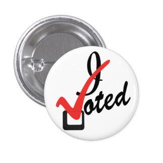 Voté Pin Redondo De 1 Pulgada