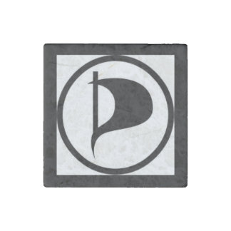 Vote Pirate Party Stone Magnet