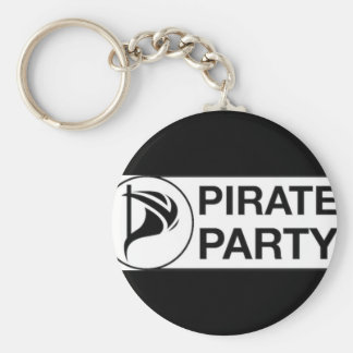 Vote Pirate Party Keychain