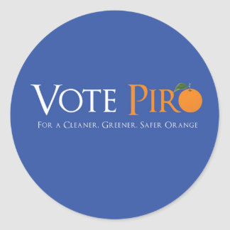 Vote Piro for Orange NJ Classic Round Sticker
