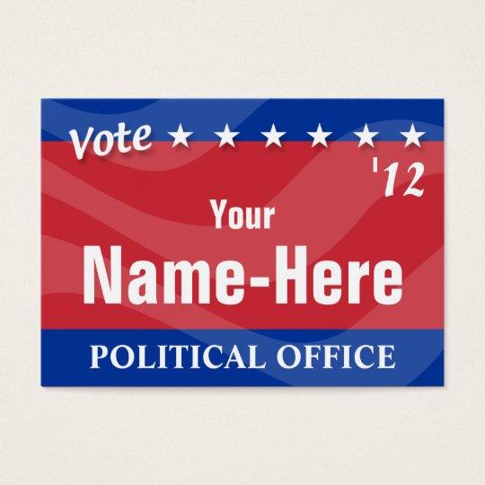 VOTE - Political Campaign Business Card