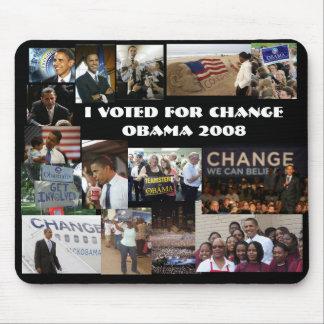 Voté por cambio tapetes de raton