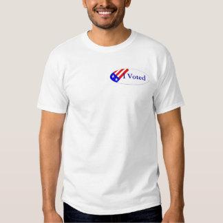 Voté por camiseta del cerdo hormiguero playeras