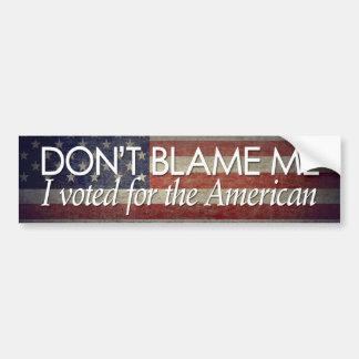 Voté por el americano pegatina de parachoque