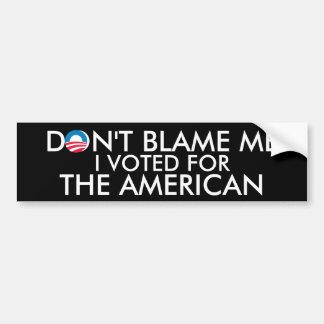 Voté por el americano pegatina para auto