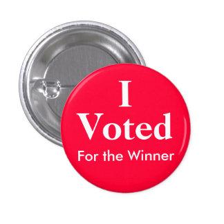 Voté por el ganador pin redondo 2,5 cm