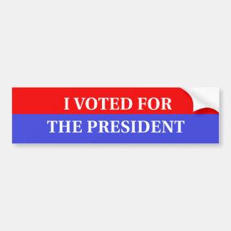 Voté por el presidente pegatina para el parachoque pegatina de parachoque
