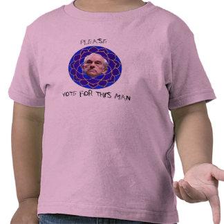Vote por favor por Ron Paul Camisetas