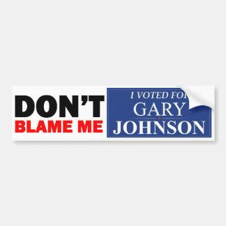 Voté por GARY JOHNSON Pegatina Para Auto