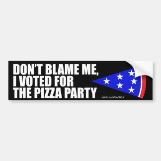 Voté por la pegatina para el parachoques del fiest etiqueta de parachoque