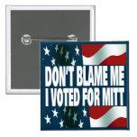Voté por mitón pin