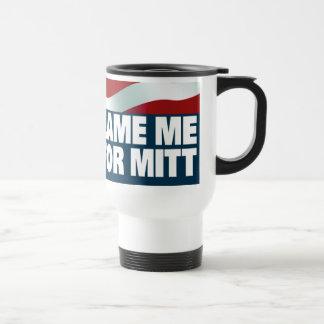 Voté por mitón taza de café