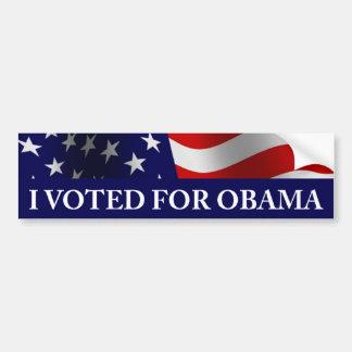 Voté por Obama Pegatina De Parachoque