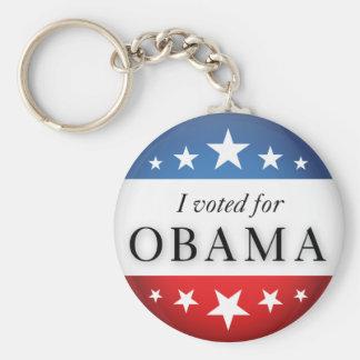 Voté por Obama Llavero
