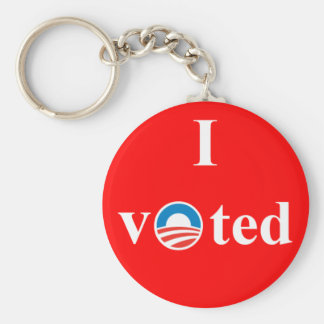 Voté por Obama Llavero Redondo Tipo Pin