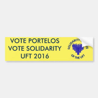 VOTE PORTELOS VOTE SOLIDARITY UFT 2016 BUMPER STICKER