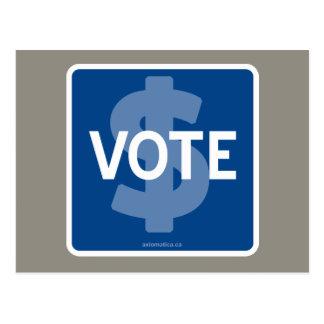 $ VOTE POSTCARD
