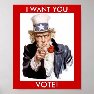 VOTE POSTER, UNCLE SAM