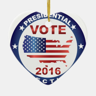 Vote President Election 2016 Round Button Ceramic Ornament