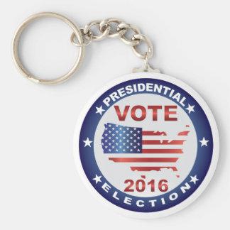 Vote President Election 2016 Round Button Basic Round Button Keychain