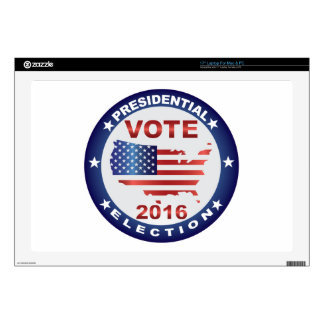 """Vote President Election 2016 Round Button Skins For 17"""" Laptops"""