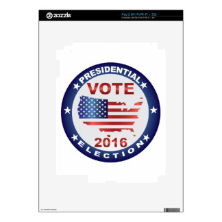 Vote President Election 2016 Round Button Decals For The iPad 2