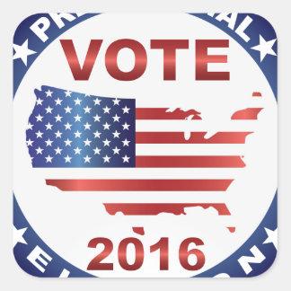 Vote President Election 2016 Round Button Square Sticker