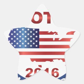 Vote President Election 2016 Round Button Star Sticker