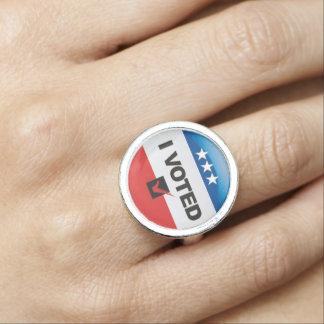 Voté • Primera elección • Conmemorativo Anillos Con Foto
