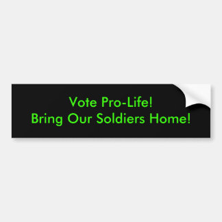 Vote Pro-Life Bumper Sticker