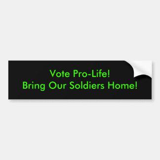 Vote Pro-Life Bumper Sticker