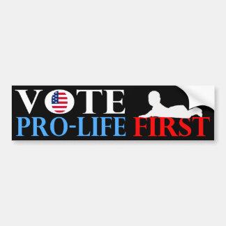 Vote Pro-Life First Bumper Sticker