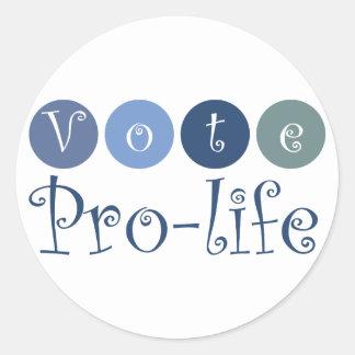 Vote pro-life stickers