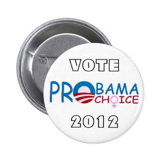 Vote Pro Obama Pro Choice in 2012 Button