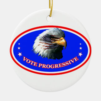 VOTE PROGRESSIVE CERAMIC ORNAMENT